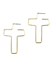 WIRE CROSS EARRING