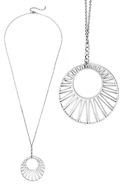 SUN PENDANT LONG NECKLACE