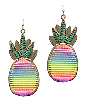 STITCH PINEAPPLE EARRING