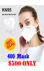 KN95 PM2.5 FACE MASK 5 LAYER FILTER ANTI-VIRUS (INDIVIDUAL PACK 1000 MASKS 1 CARTON)