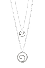 DOUBLE LAYER HOOP SWIRL NECKLACE
