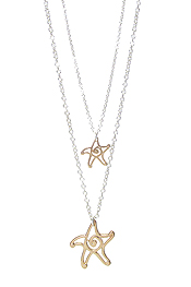 DOUBLE LAYER STARFISH SWIRL NECKLACE