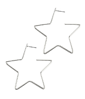 STAR WIRE HOOP EARRING