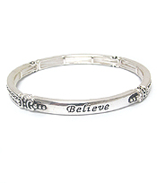 TAILORED DESIGN STACKABLE STRETCH BRACELET - BELIEVE
