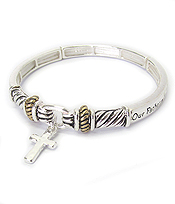 RELIGIOUS INSPIRATION MESSAGE STRETCH BRACELET - LORD'S PRAYER