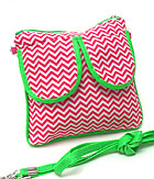 CHEVRON PRINT POCKET MESSENGER BAG