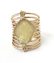 DRUZY AND SPRING WIRE RING