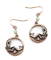 METAL MERMAID EARRING