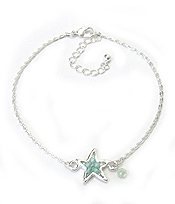 SEALIFE MULTI BEAD ANKLET - STARFISH