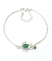 SEALIFE MULTI BEAD ANKLET - TURTLE
