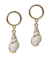 GOLD PLATING GENUINE SHELL EARRING