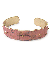CORK TEXTURED BANGLE BRACELET
