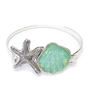 SEALIFE THEME OPAL BANGLE BRACELET - STARFISH