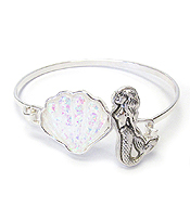 SEALIFE THEME OPAL BANGLE BRACELET - MERMAID