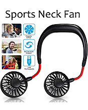 PORTABLE SPORTS NECK HANGING FAN - USB CHARGE 3 SPEED