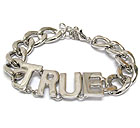 METAL TRUE AND THICK CHAIN BRACELET