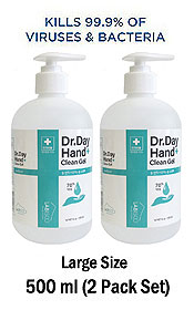 500 ML LARGE SIZE GEL PUMP TYPE MEDIUM STRENGTH (ETHANOL 70%) HAND SANITIZER  KILL 99% MADE IN KOREA (2 PC)