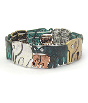 ELEPHANT THEME STRETCH BRACELET
