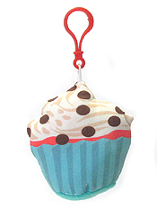 STUFFY PILLOW CUPCAKE KEY CHAIN