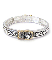 DESIGNER TEXTURED STRETCH BRACELET - OWL