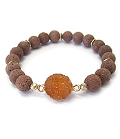 DRUZY AND LAVA STRETCH BRACELET