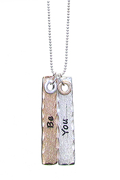RELIGIOUS INSPIRATION DOUBLE BAR NECKLACE - BE YOU