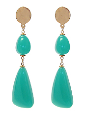 CHUNKY COLOR RESIN NUGGET DROP EARRING