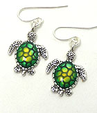 SEA LIFE TURTLE HOOK  EARRINGS