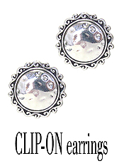 DESIGNER TEXTURED CLIP ON EARRING - DISC