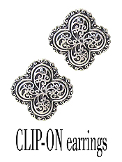 DESIGNER TEXTURED CLIP ON EARRING - QUATTREFOIL