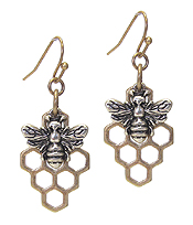 BEE AND HIVE EARRING