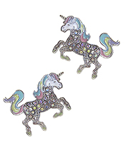 CRYSTAL UNICORN EARRING