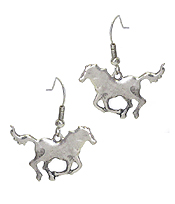FARM ANIMAL THEME METAL EARRING - HORSE