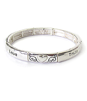 INSPIRATION STRETCH BRACELET - LOVE TRUST COMPASSION GENEROSITY