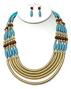 5 LAYER BEADS NECKLACE SET