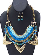 FIVE LAYER NECKLACE SET