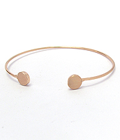 METAL DISC WIRE BANGLE BRACELET