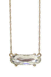FACET GLASS PENDANT NECKLACE