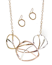 WIRE METAL ART NECKLACE SET