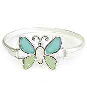 SEAGLASS BUTTERFLY BANGLE BRACELET