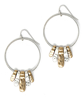 METAL HOOP AND MULTI BAR EARRING