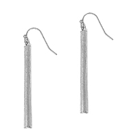 LONG METAL BAR DROP EARRING