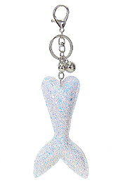 GLITTERING MERMAID TAIL KEY CHAIN
