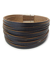 MULTI LAYER LEATHER MAGNETIC BRACELET