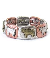 FARM ANIMAL THEME STRETCH BRACELET - COW
