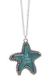 SEALIFE THEME PENDANT NECKLACE - STARFISH