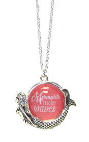 SEALIFE THEME PENDANT NECKLACE - MERMAID
