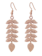 METAL LEAF DROP EARRING