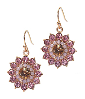 MIXED CRYSTAL FLOWER EARRING