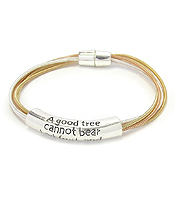 RELIGIOUS INSPIRATION MESSAGE MULTI STRETCH CORD MAGNETIC BRACELET - MATTHEW 7:18
